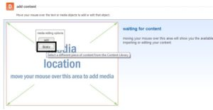 Adding media from library