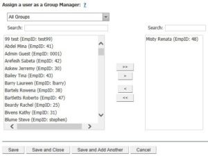 Creating group managers