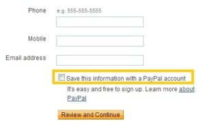 Paypal options