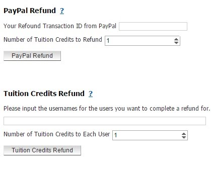 Tuition refunds