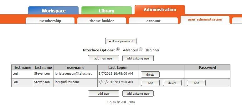 User Administration