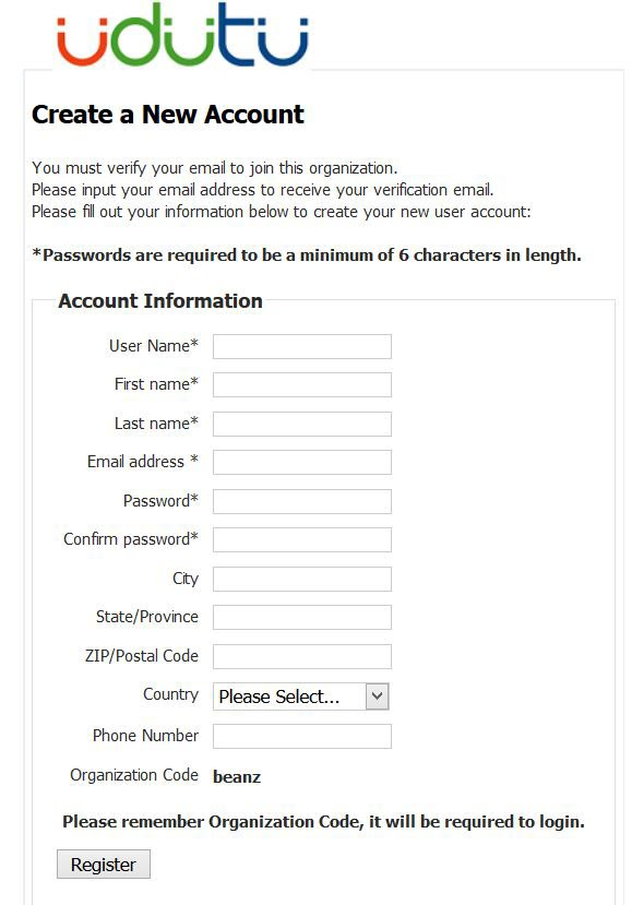 learner account information