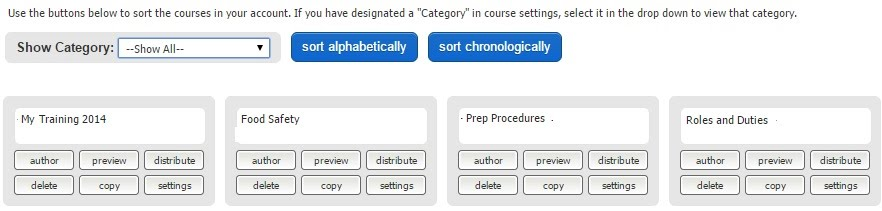 sorting courses