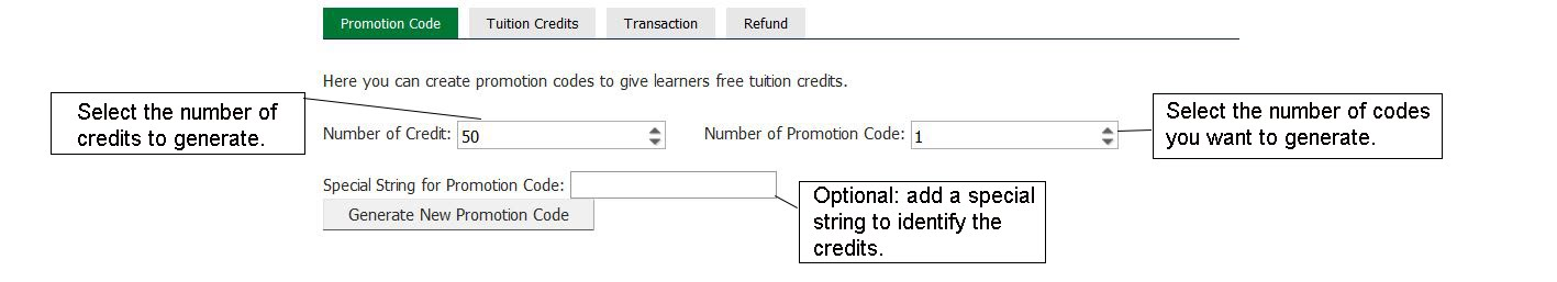 tuition promotion codes