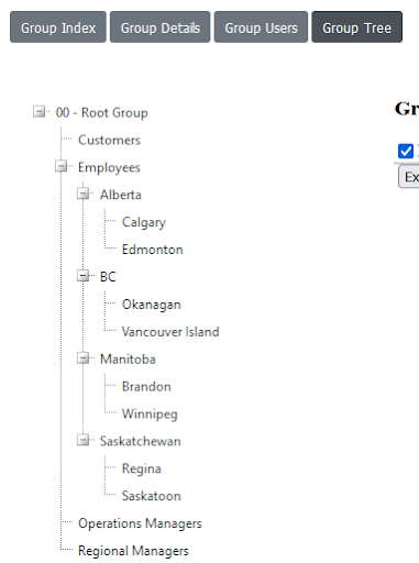 view group tree