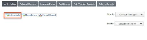 add training activity
